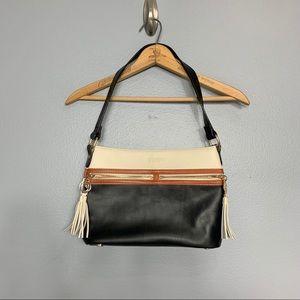 SPARTINA 449 | leather color block tassel purse